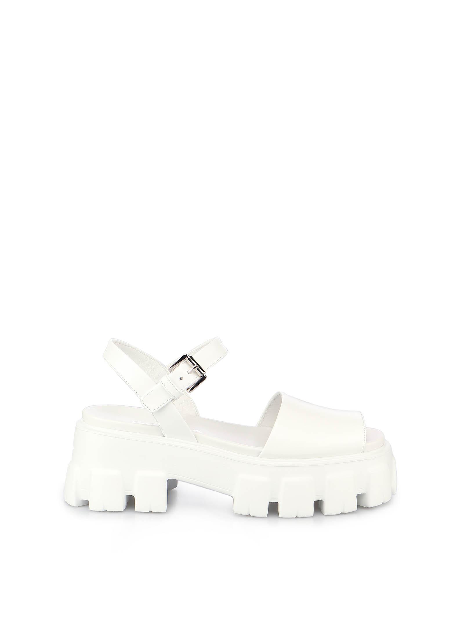 Picture of Prada | Monolith Leather Sandals