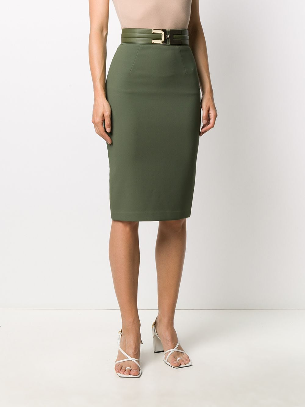 Picture of Elisabetta Franchi | Skirt With Belt