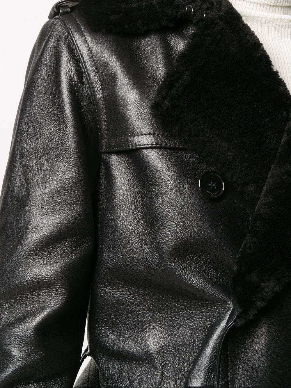 Picture of Saint Laurent | Shearling Trench