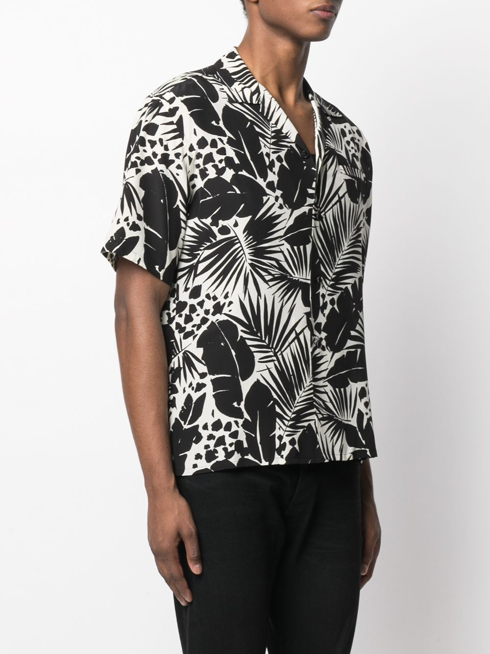 Picture of Saint Laurent | Camp Collar Printed Shirt