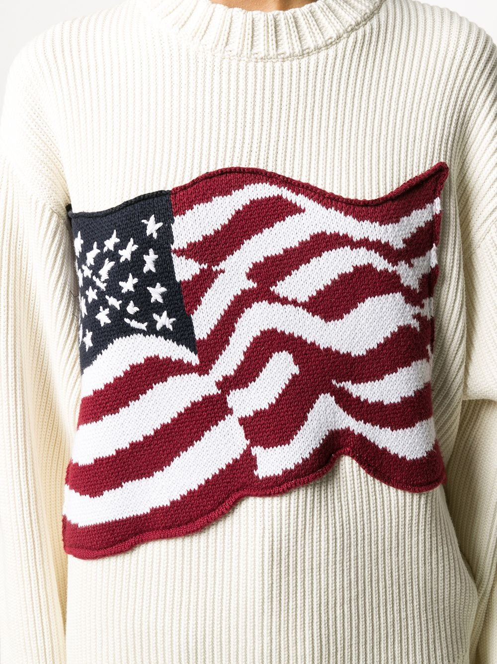 Picture of Tommy Hilfiger | Ribbed Flag Sweater