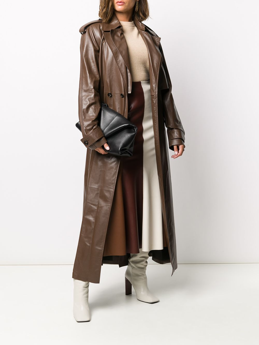 Picture of Bottega Veneta | Fluid Polished Calfskin Coat