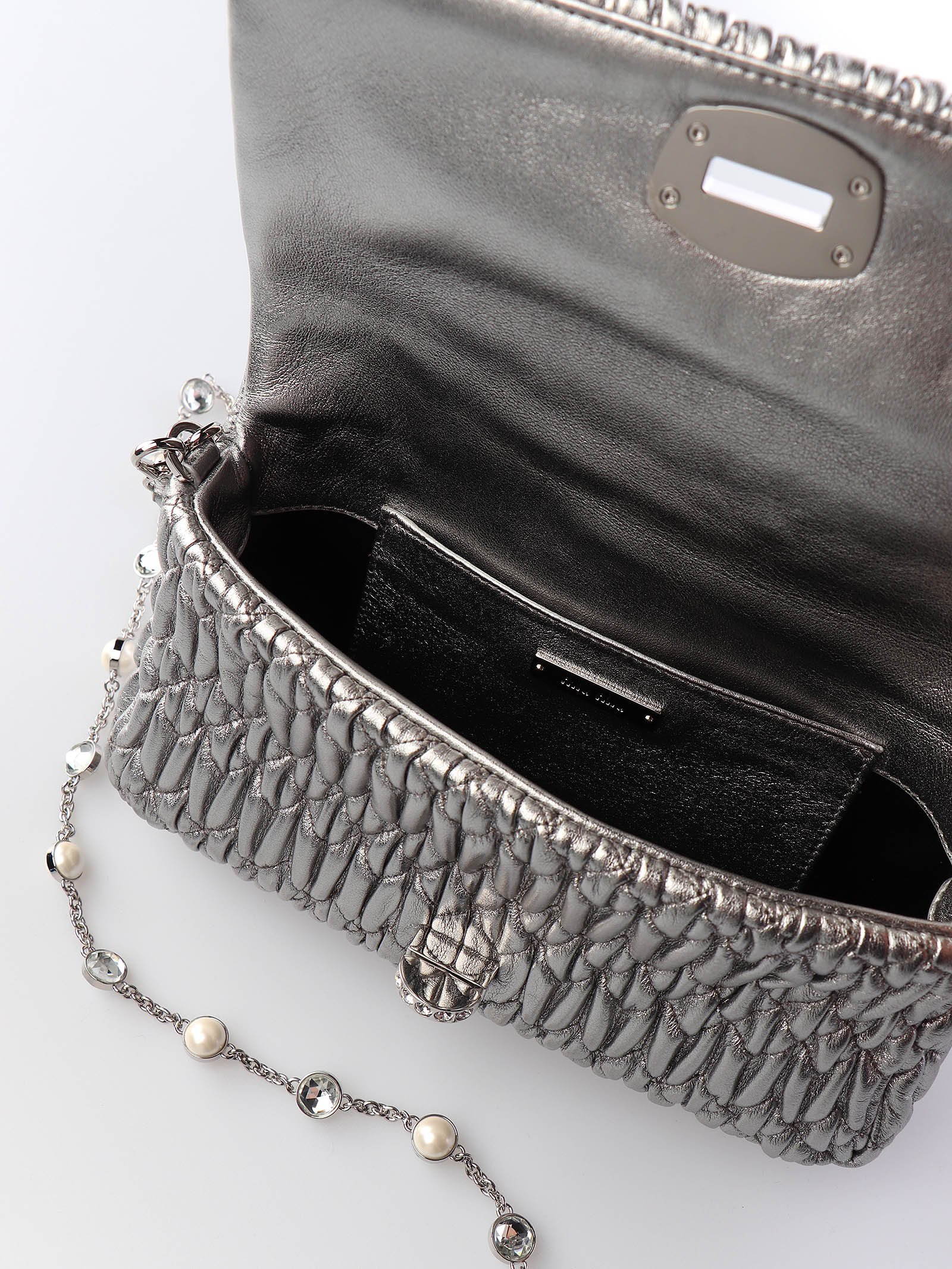Immagine di Miu Miu   Miu Crystal Cloqué Nappa Leather Bag