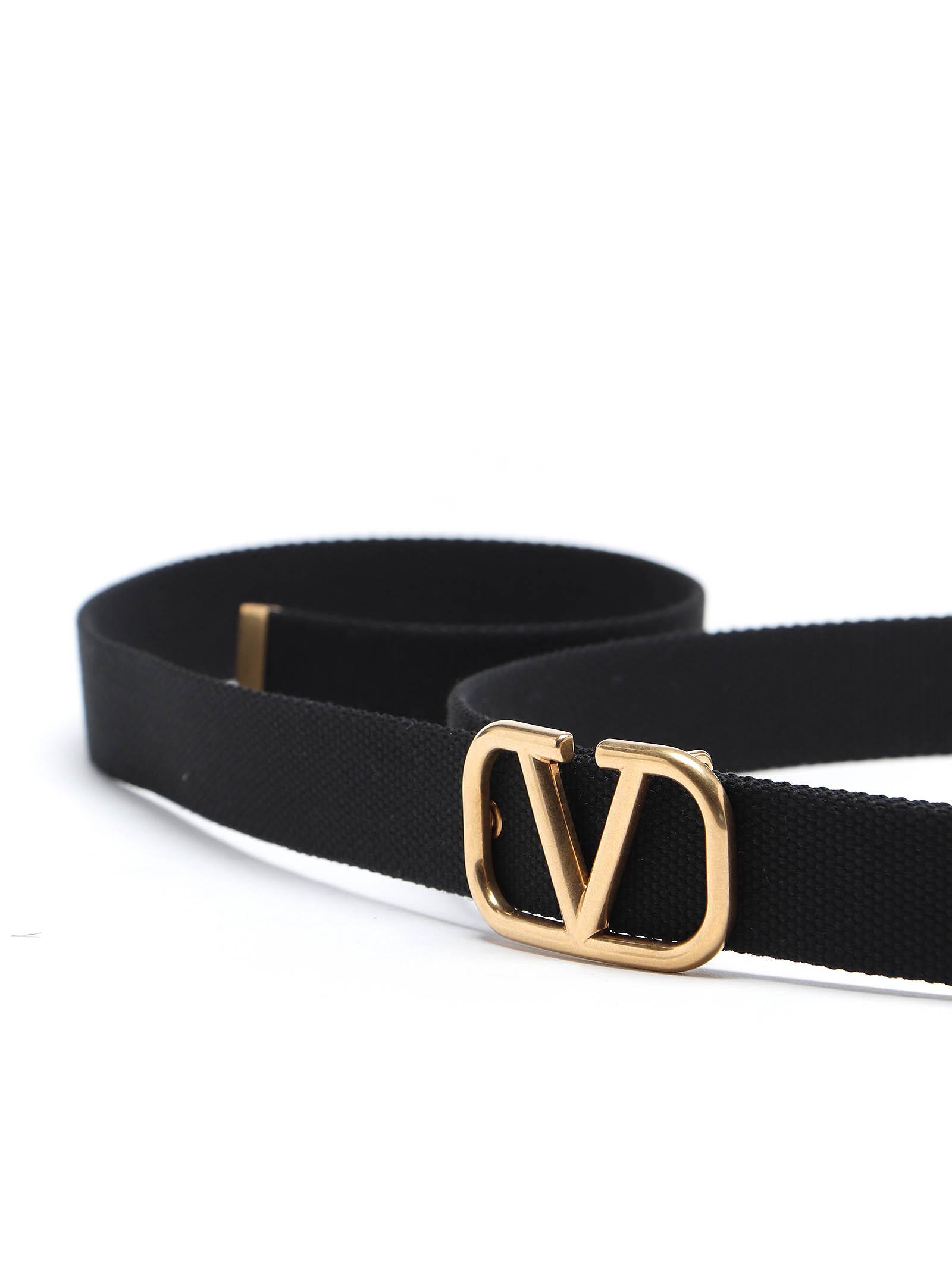 Picture of Valentino Garavani   Vlogo Buckle Belt H.30