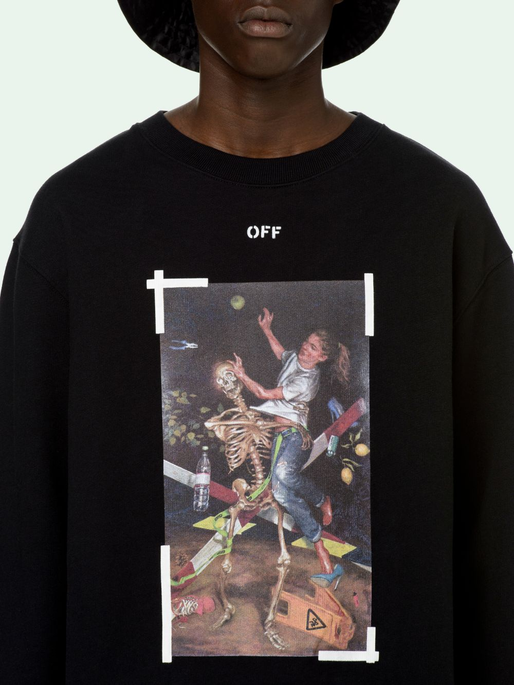 Picture of Off White   Pascal Print Slim Crewneck
