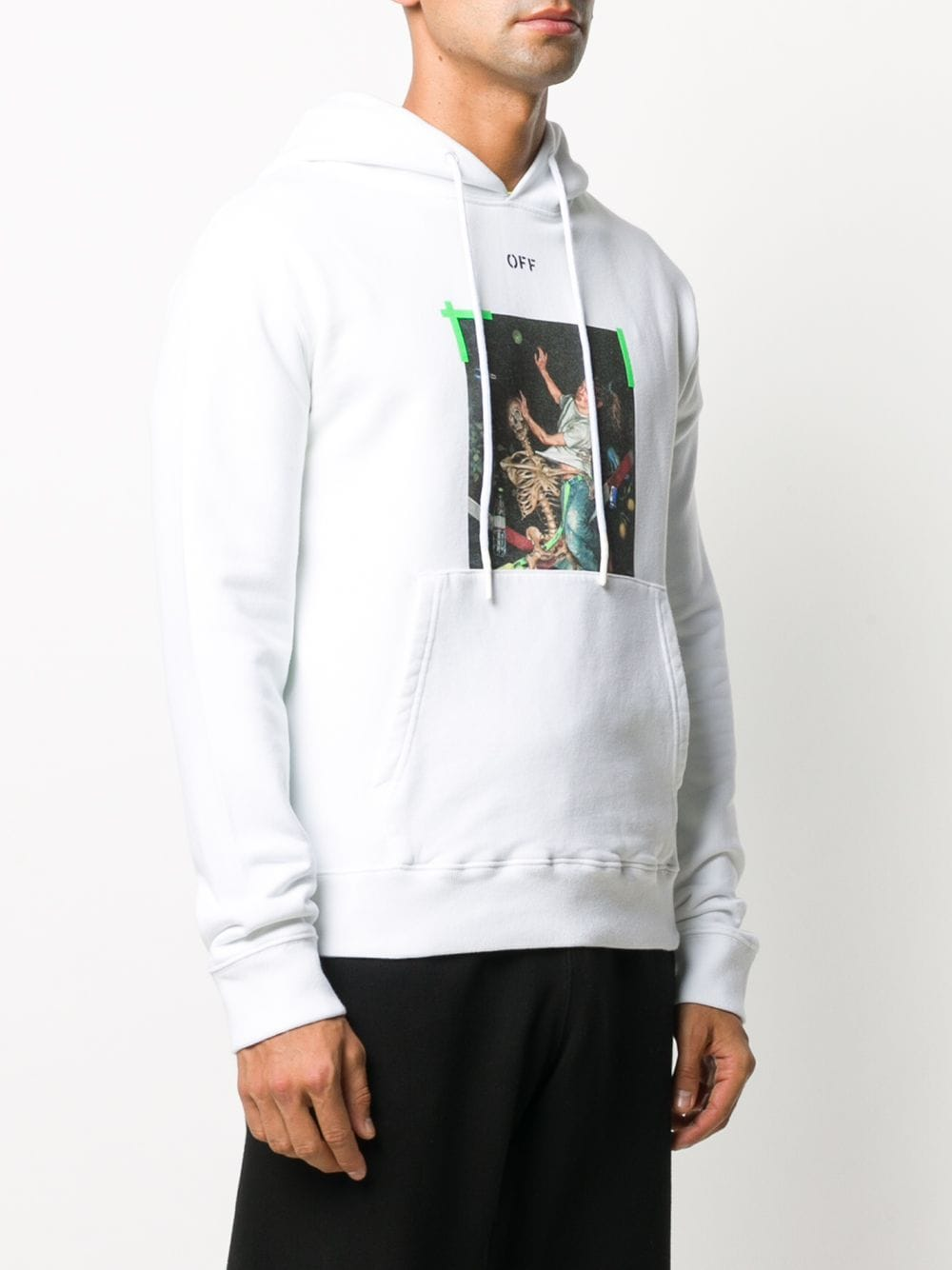 Picture of Off White | Pascal Print Slim Hoodie