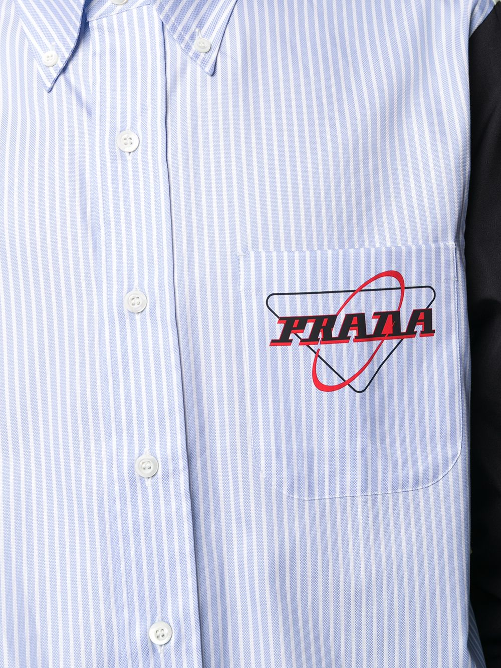 Picture of Prada | Shirt Oxford Patch
