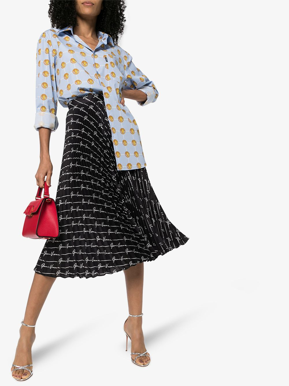 Picture of Versace | Midi Skirt Printed