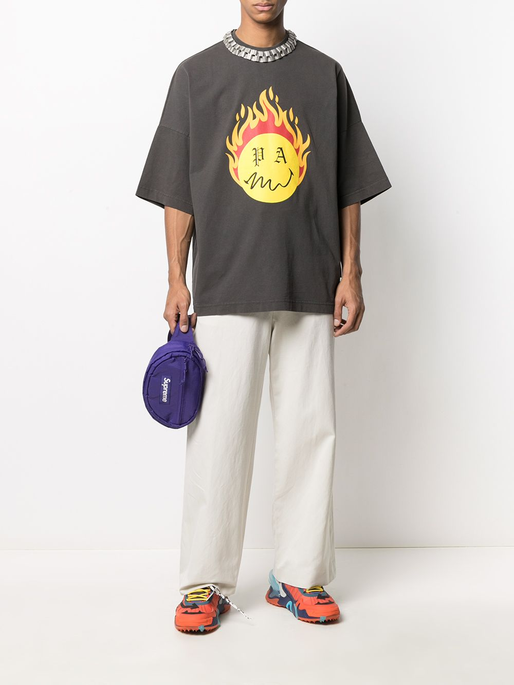 Picture of Palm Angels | Burning Head Loose Tee
