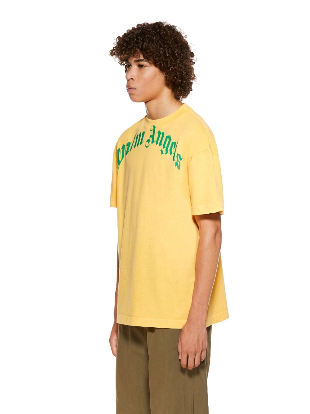 Picture of Palm Angels | Vintage Wash Curved Logo Tee