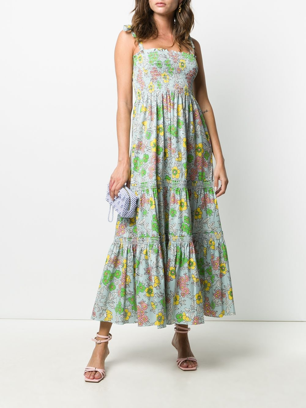Picture of Tory Burch | Printed Tie-Shoulder Dress