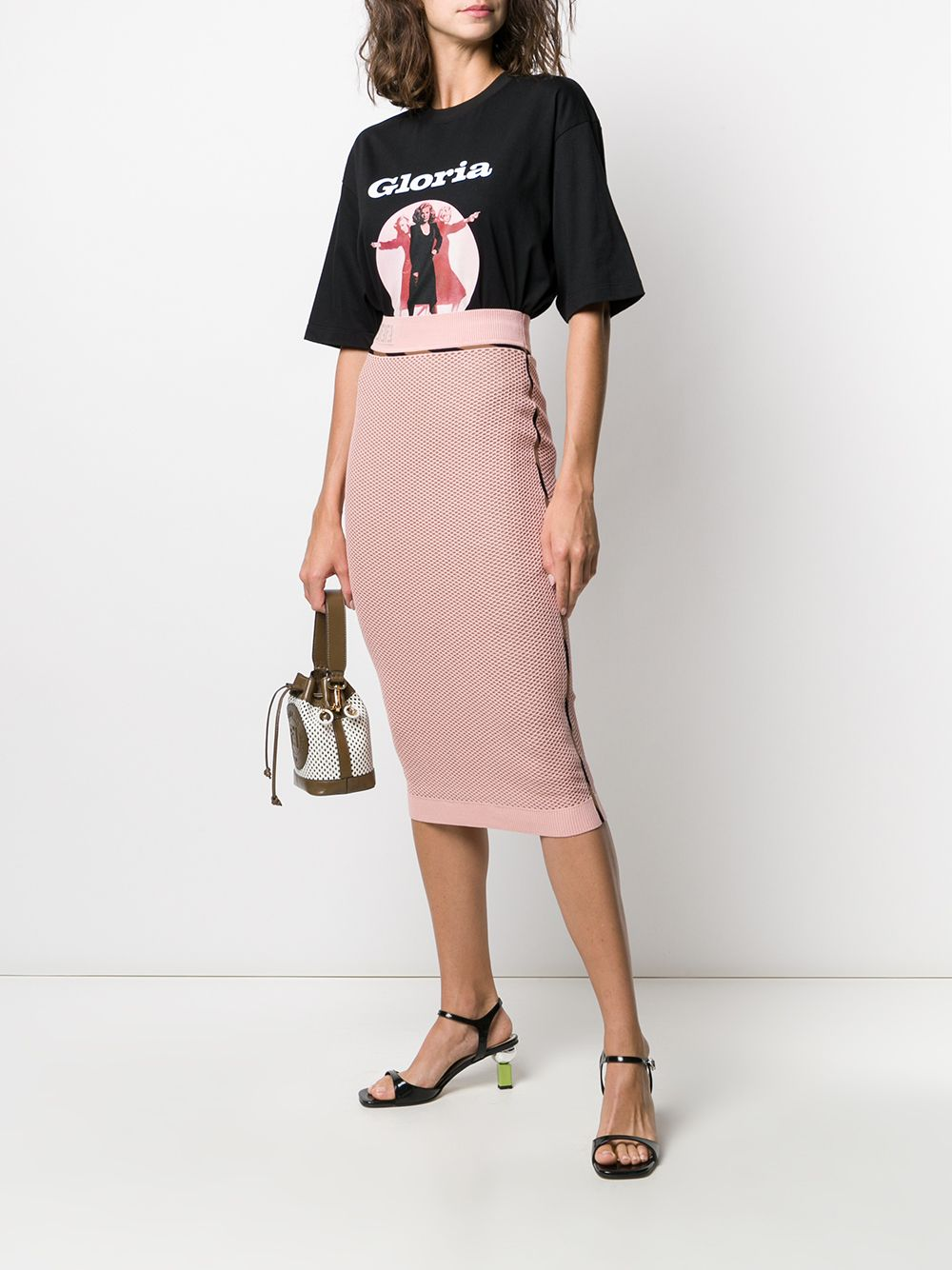 Picture of Fendi | Micro Mesh Skirt