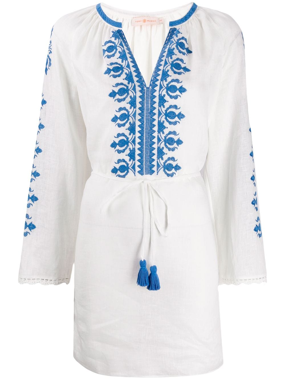 Picture of Tory Burch | Embroidered Linen Dress