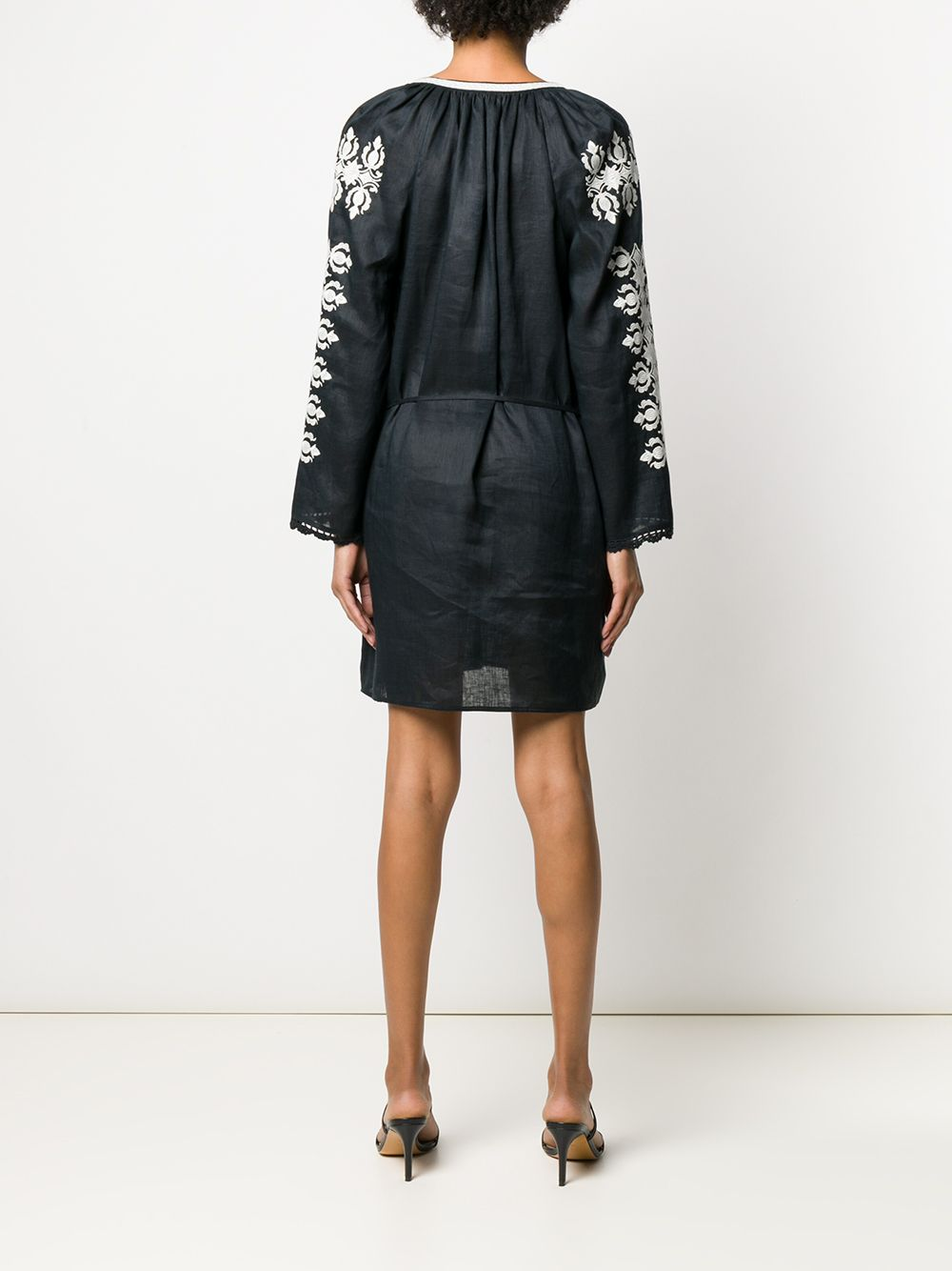 Picture of Tory Burch   Embroidered Linen Dress