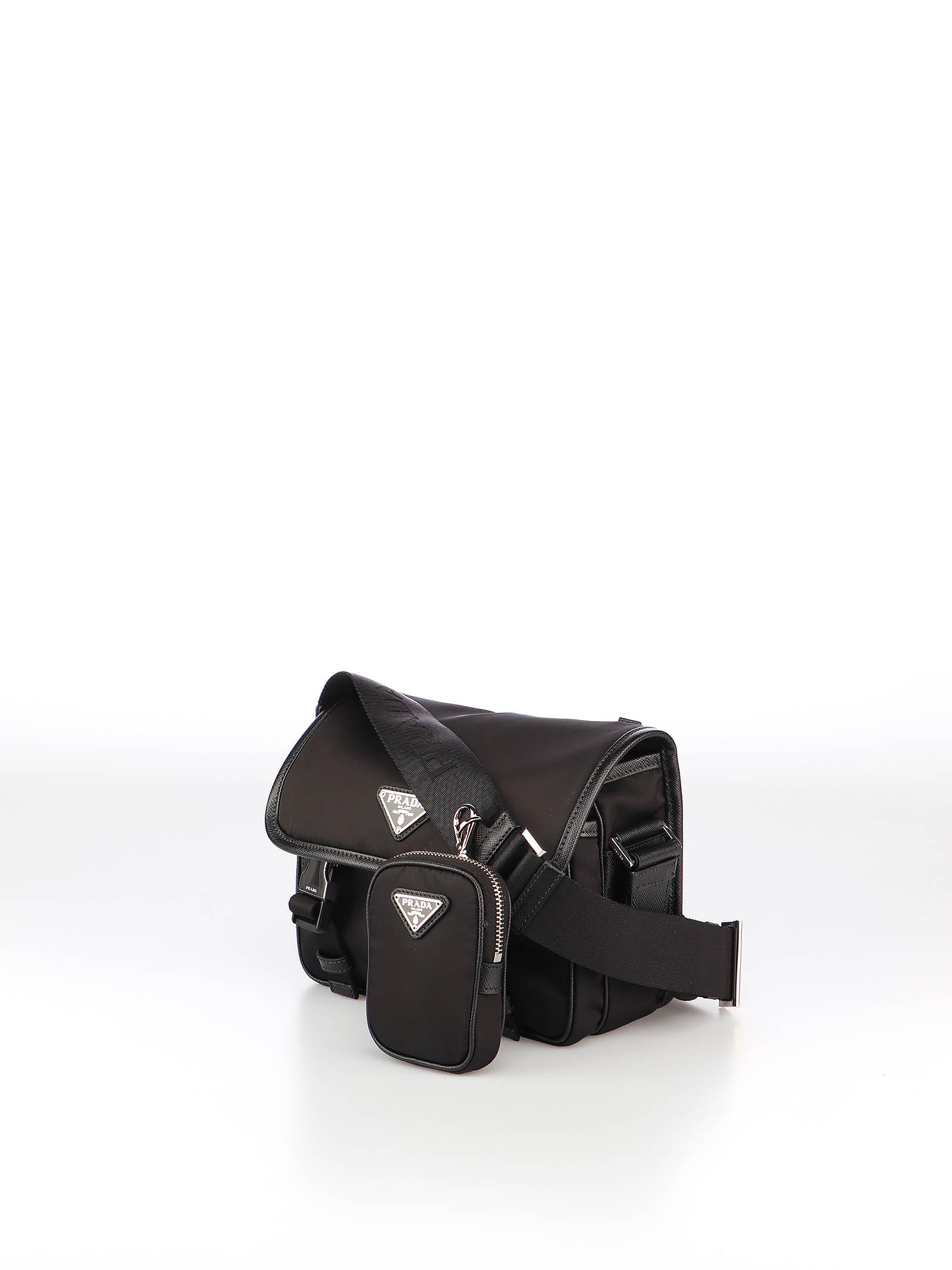 Immagine di Prada | Nylon And Saffiano Leather Shoulder Bag