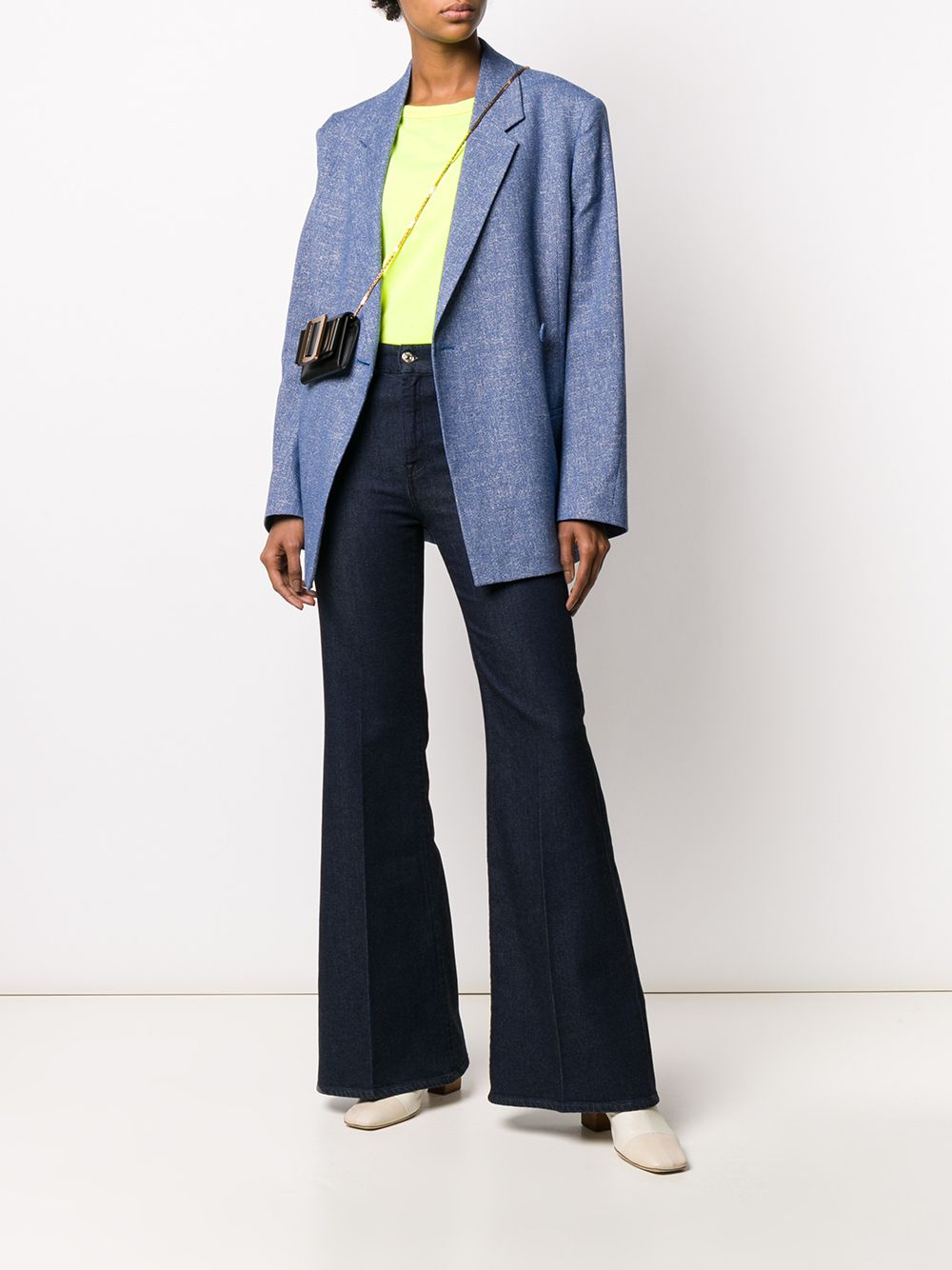 Picture of 7 For All Mankind   Flare Lurex Jeans