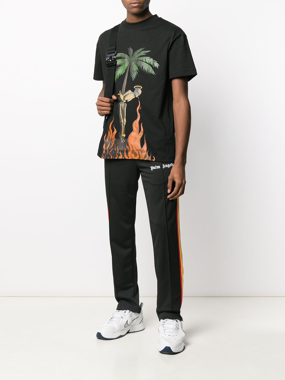 Picture of Palm Angels | Burning Skeleton Tee