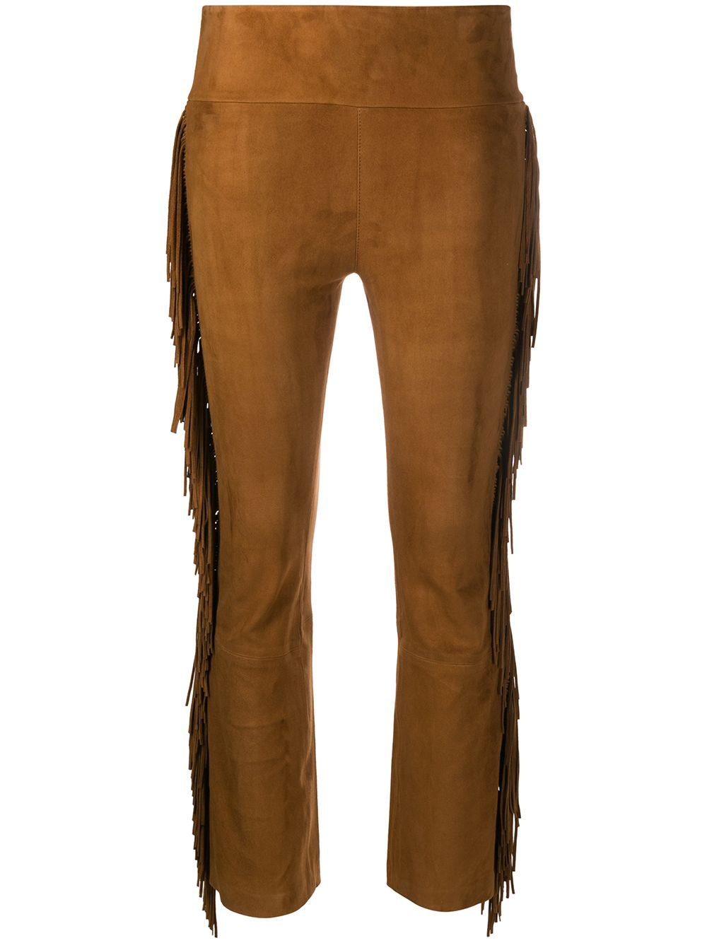 Picture of Sprwmn | Crop Flare Suede Fringe