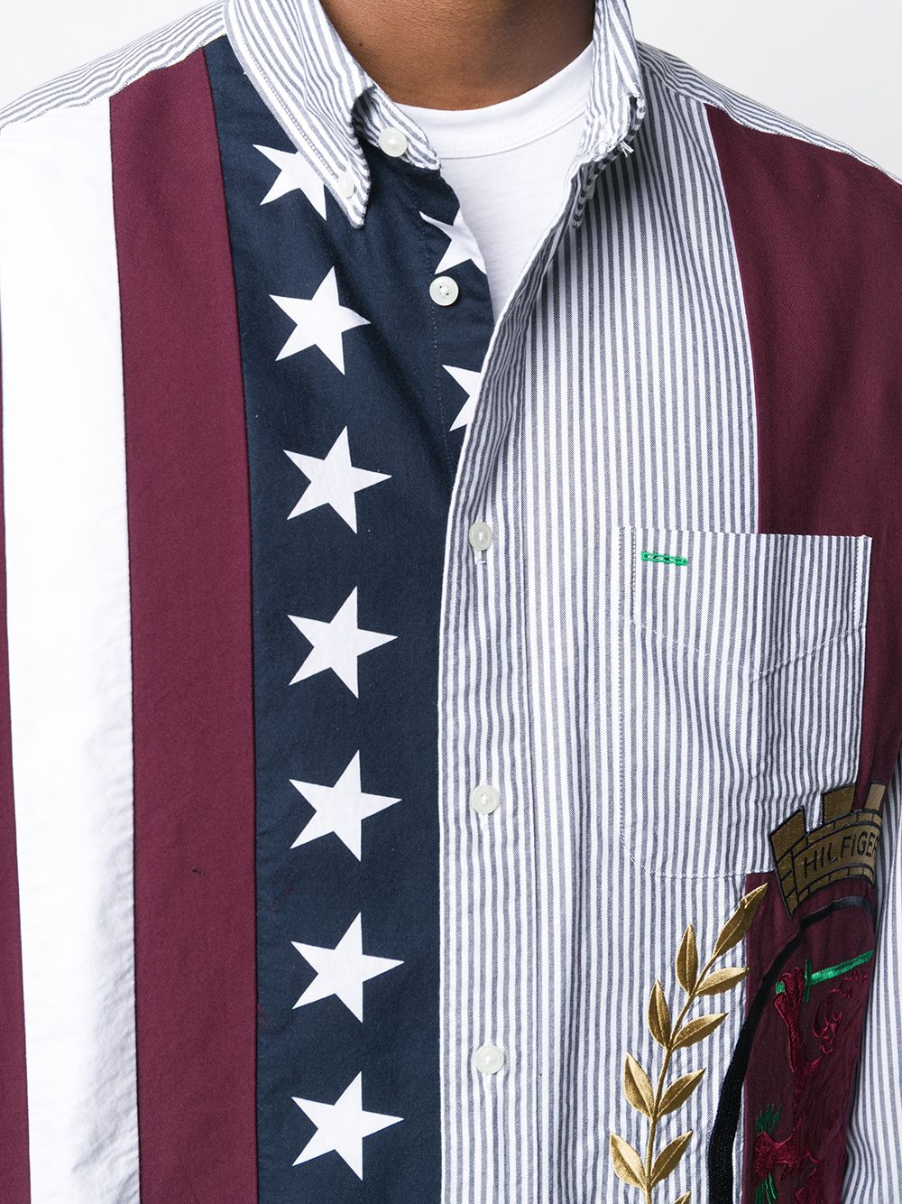 Picture of Tommy Hilfiger   Archive Fit Spliced Shirt