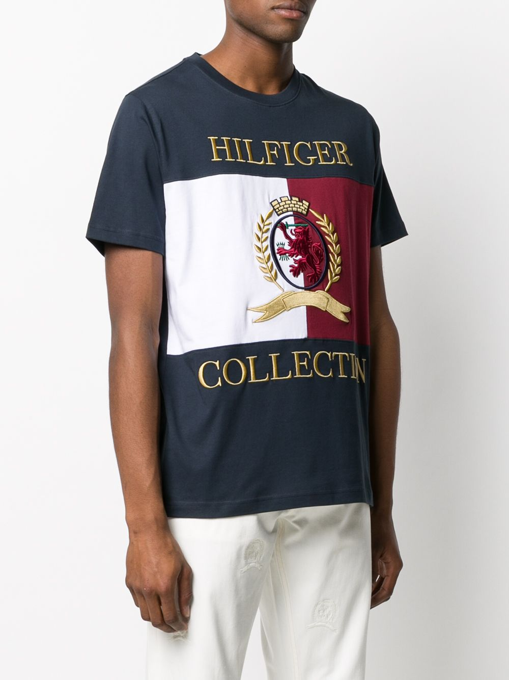 Picture of Tommy Hilfiger | Hcm Crest & Flag Tee