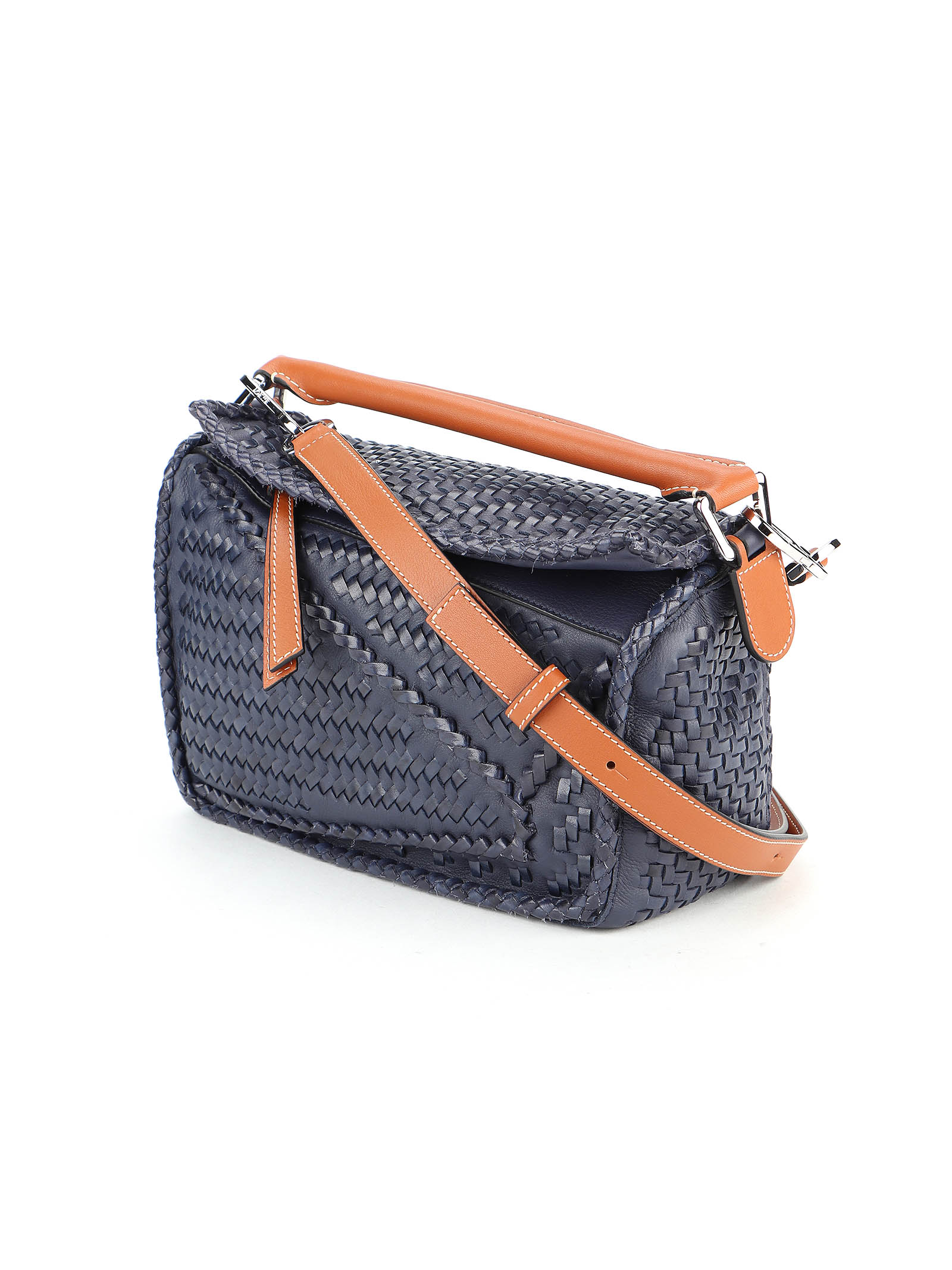 Picture of Loewe | Puzzle Woven Small Bag