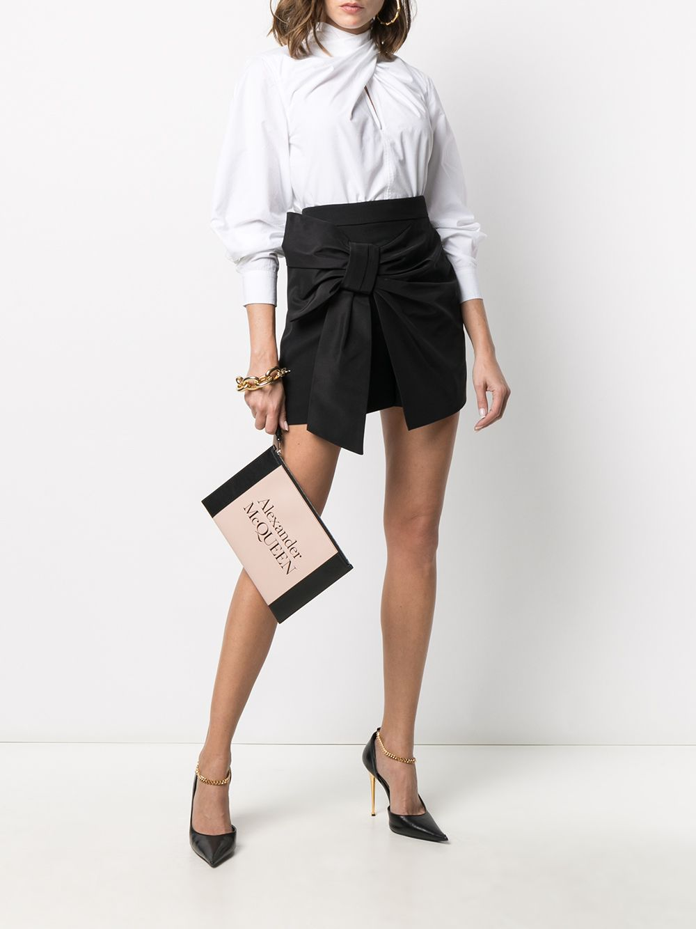 Picture of Alexander Mcqueen   Bow Detail Shorts