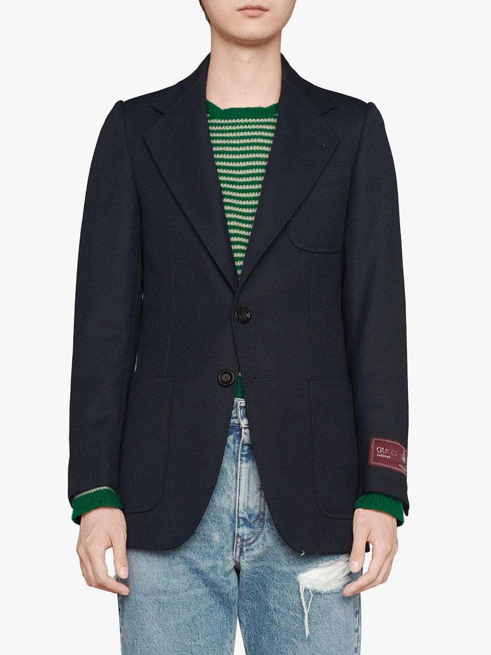 Immagine di Gucci | Wool Tricotine Single Breast. Jacket