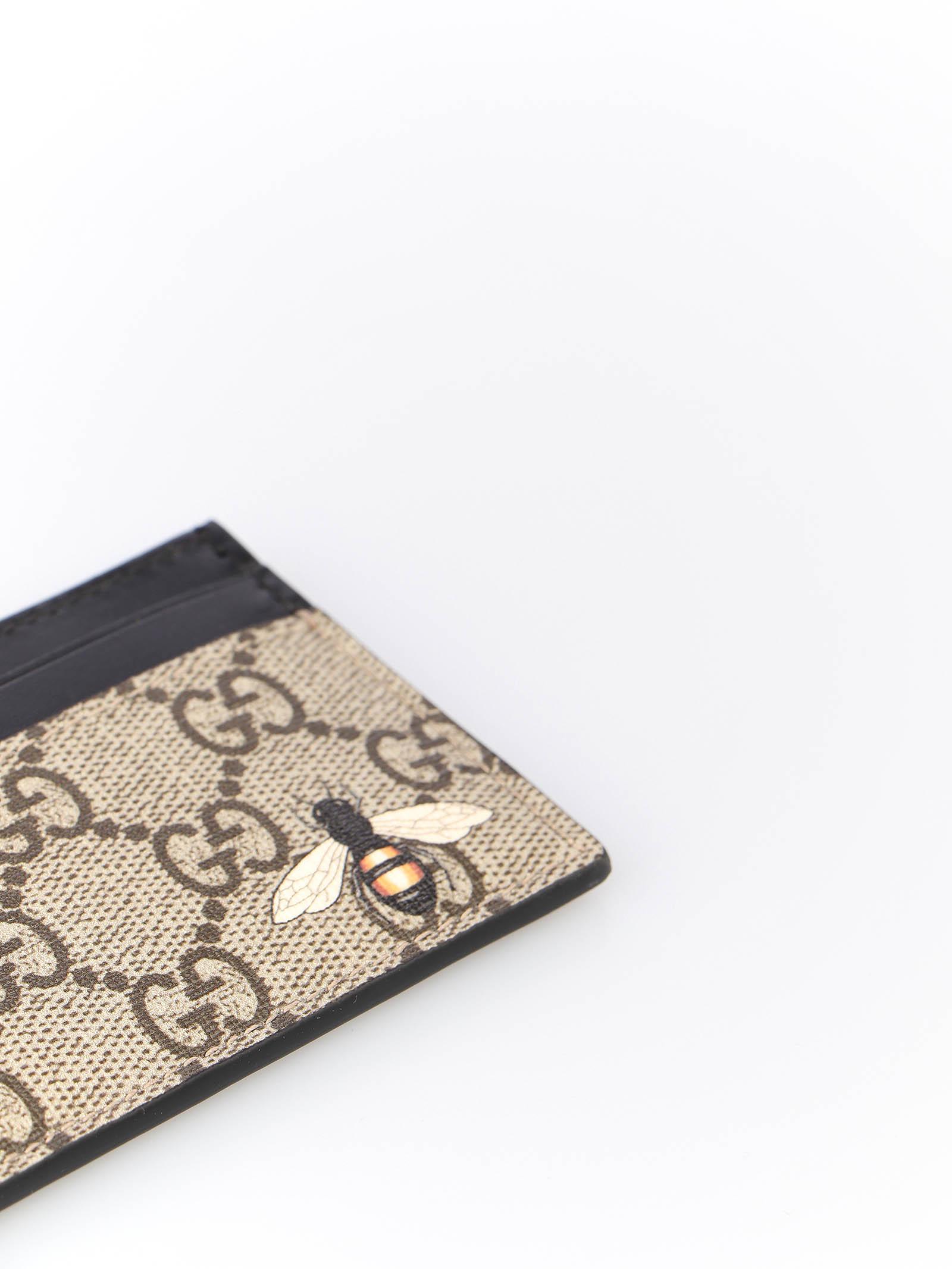 Immagine di Gucci | Bee Print Gg Supreme Card Case