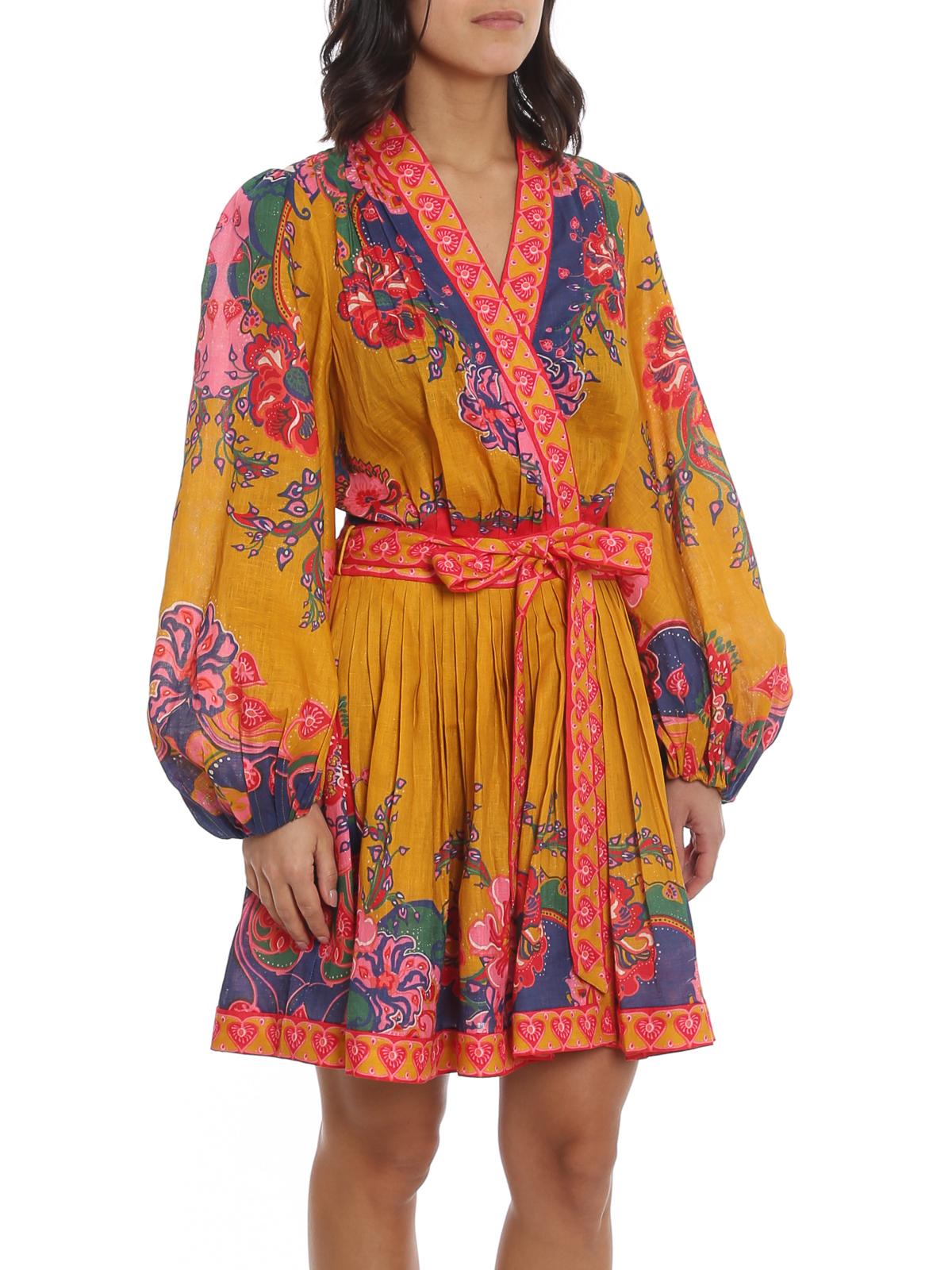 Picture of Zimmermann | The Lovestruck Wrap Mini Dress