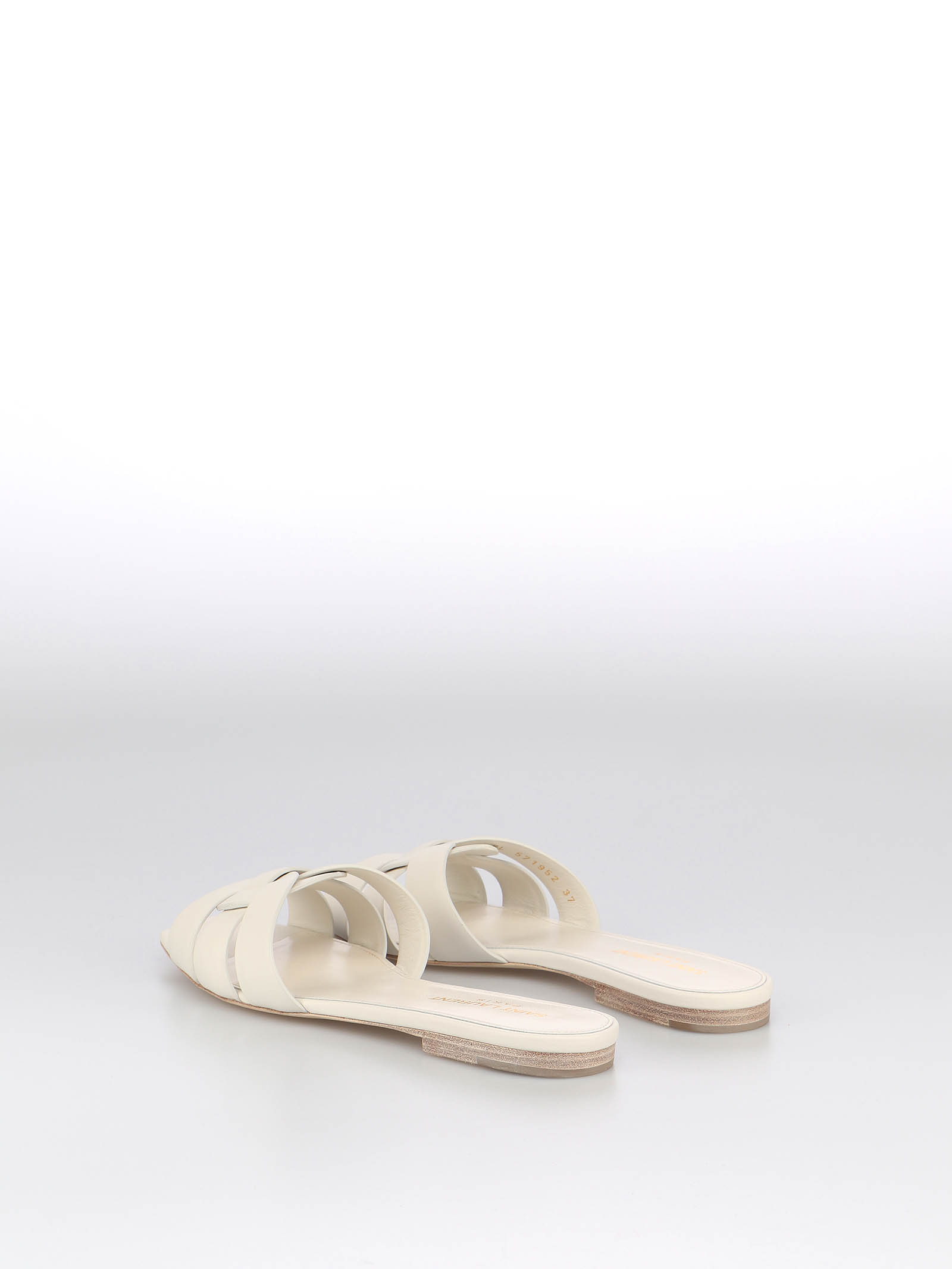 Picture of Saint Laurent | Nu Pieds 05 Slide Flat Sandal