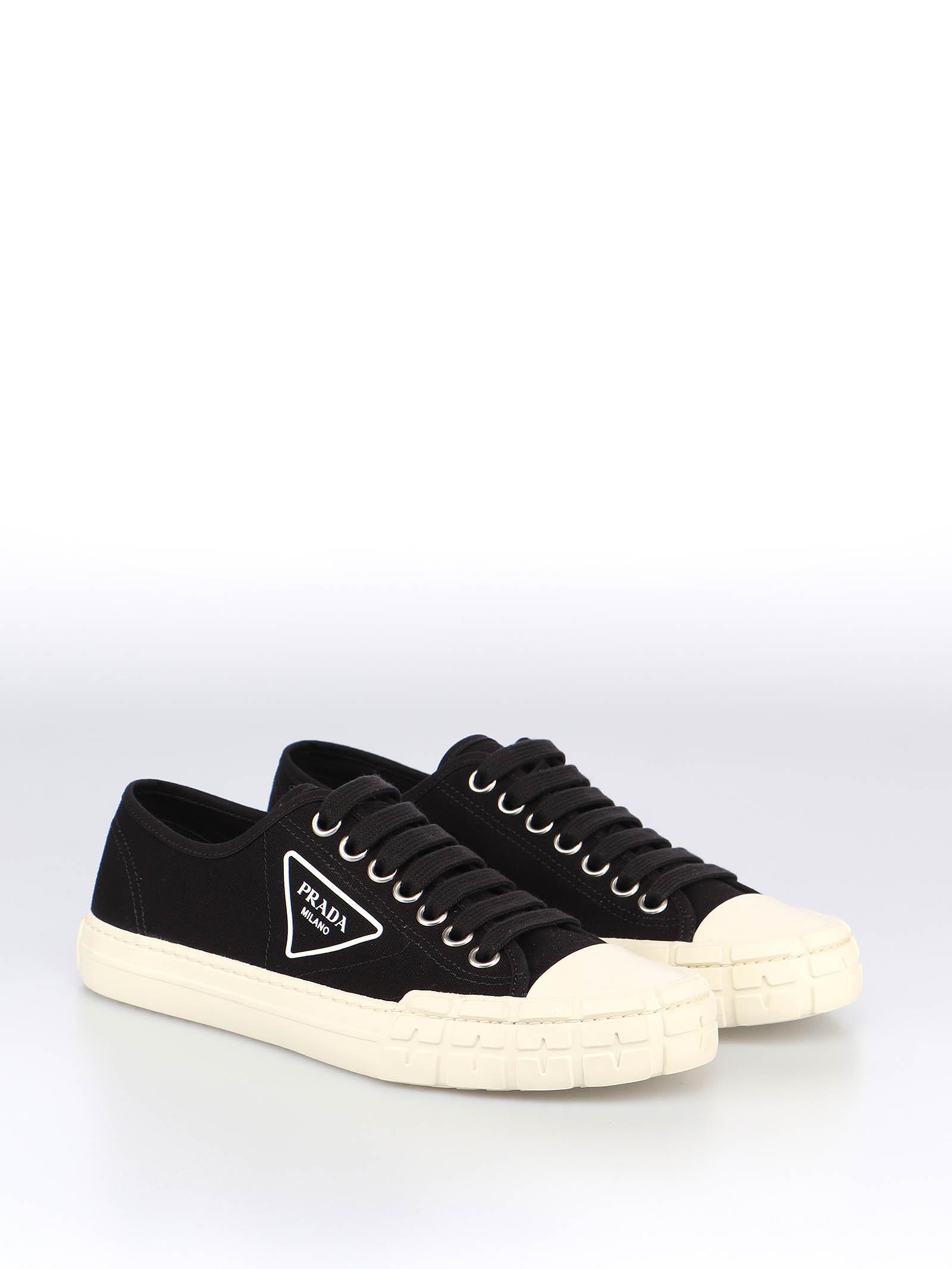 Picture of Prada | Wheel Vulcanizzato Tech Fabric Sneaker
