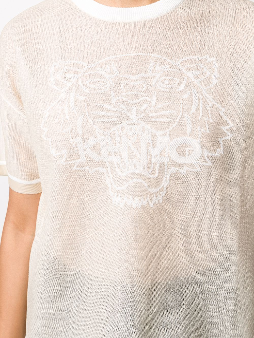 Picture of Kenzo | Tiger Head Mesh Knitted T-Shirt
