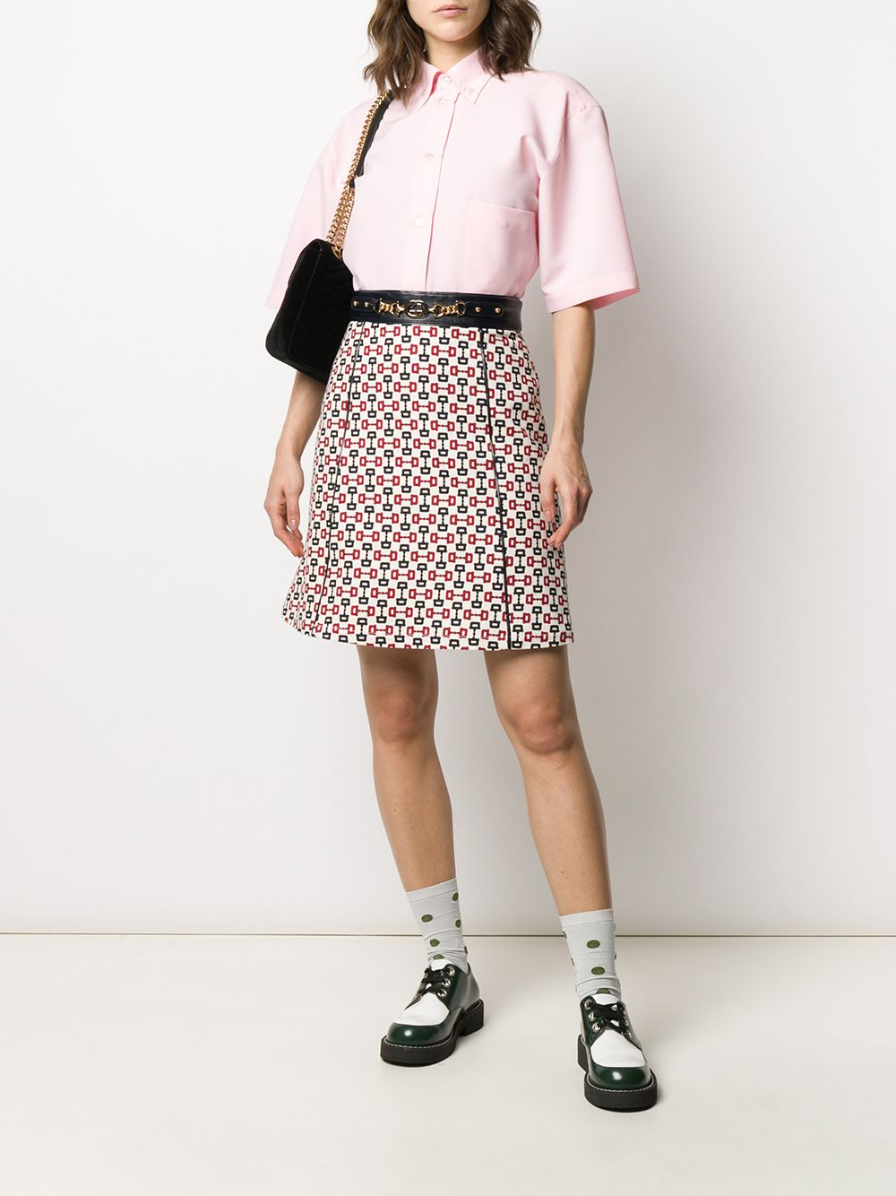Picture of Gucci | Skirt W/Leather