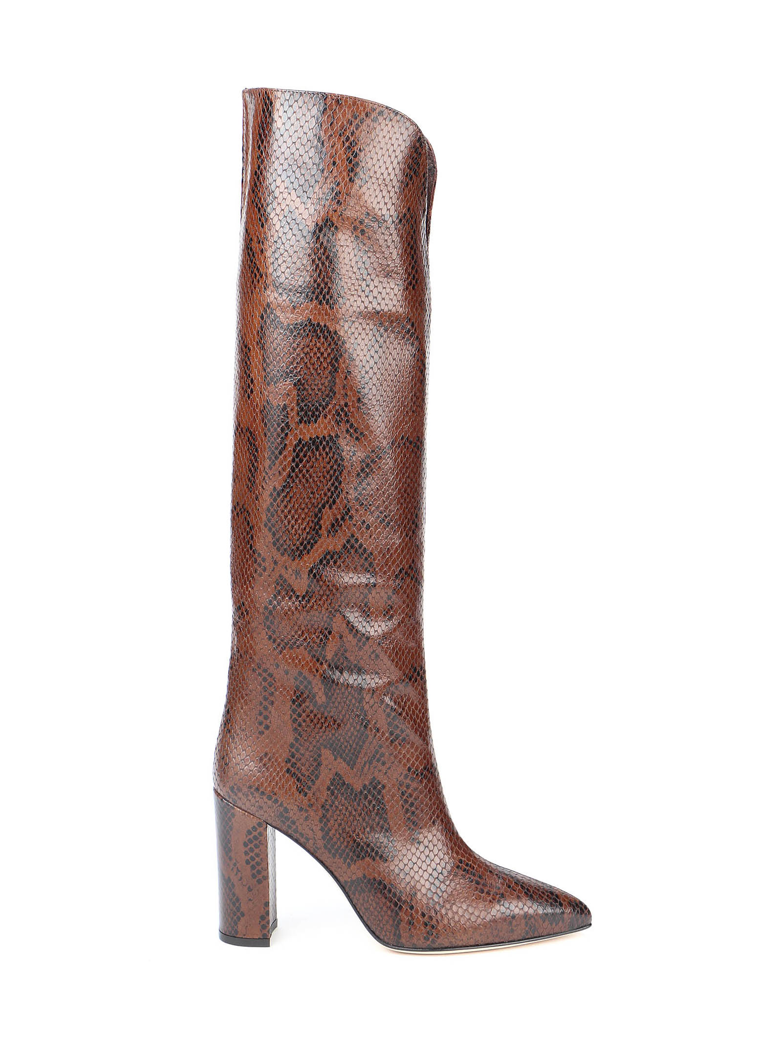 Picture of Paris Texas | Snake Embossed Slouchy Boots