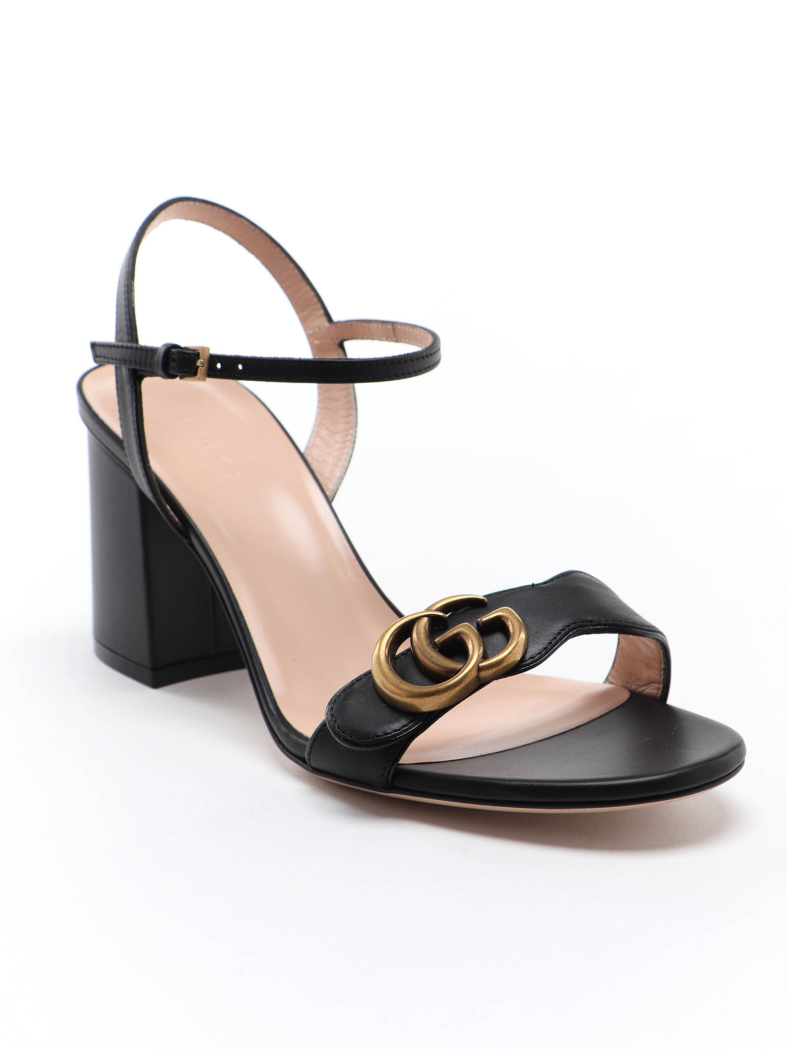 Picture of Gucci | Double G Mid Heel Sandal