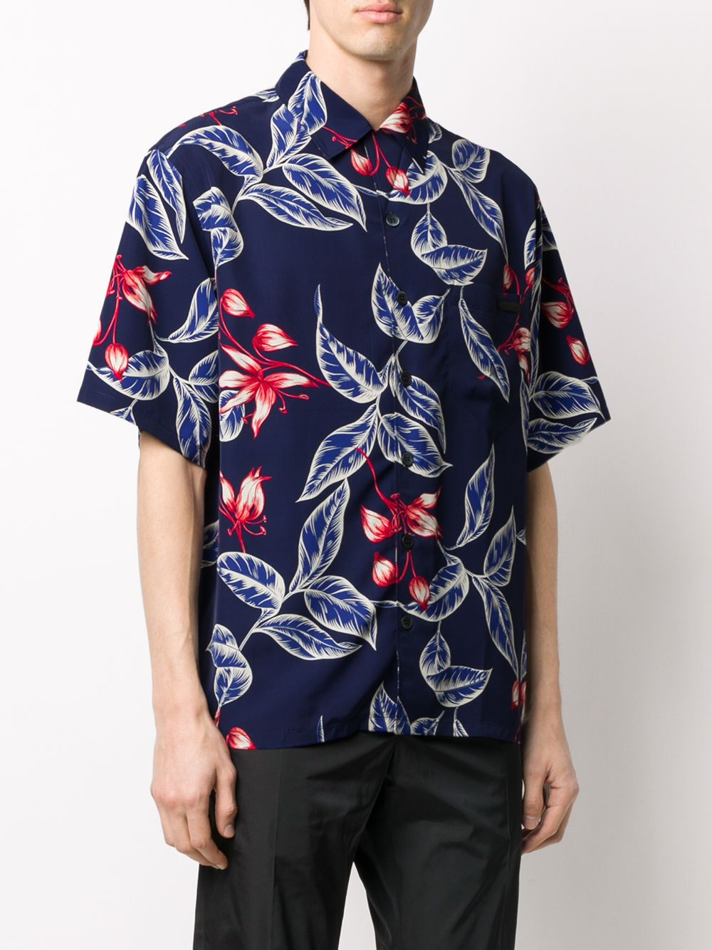 Picture of Prada | Bowling Shirt Ponge`Lilium