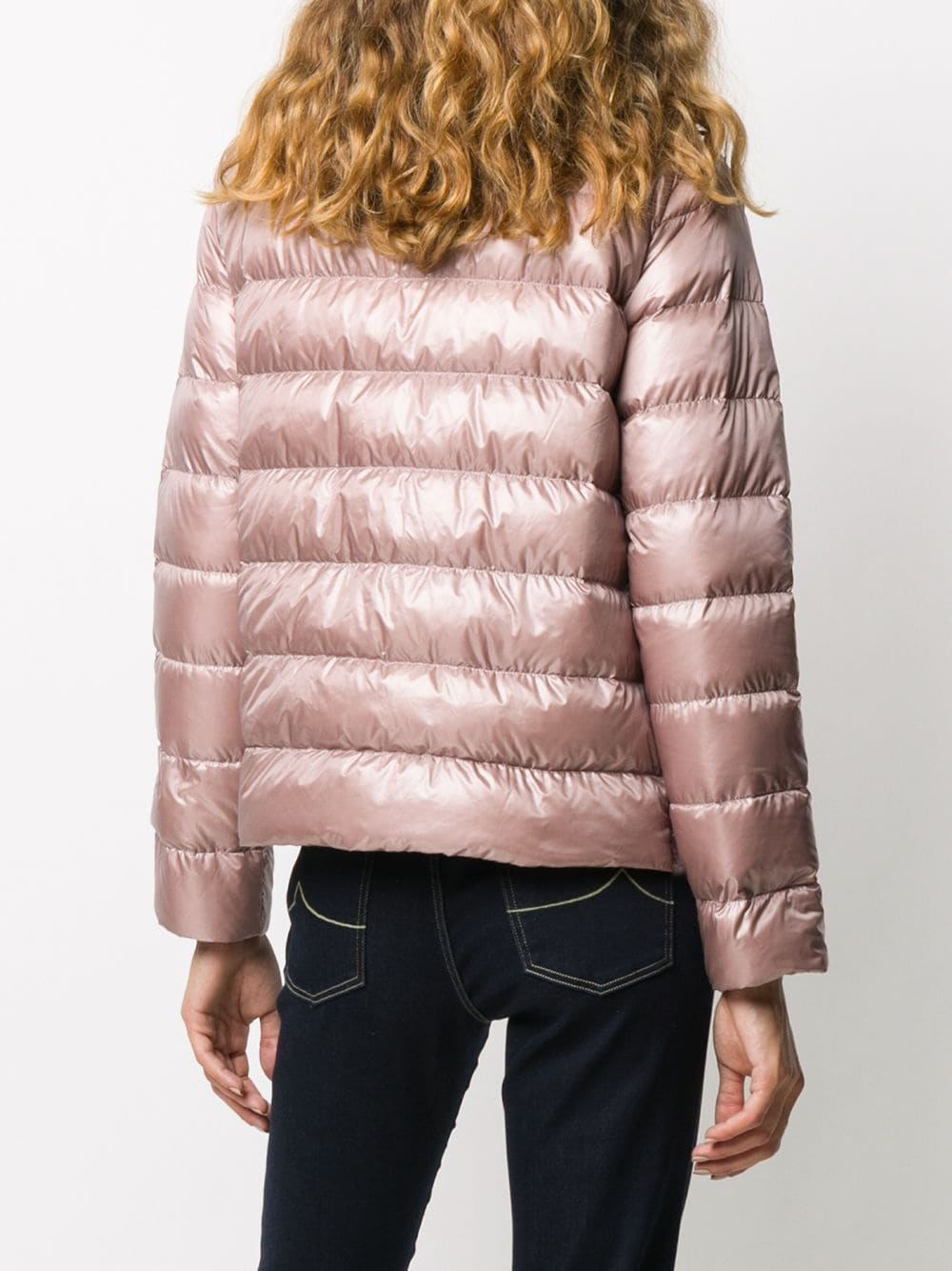 Picture of Herno | Down Jacket With Alpaca Details