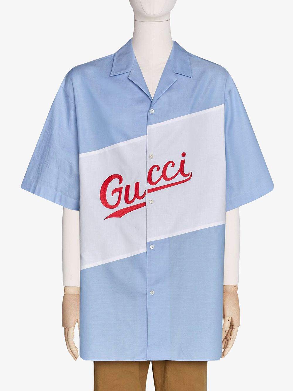 Picture of Gucci | Bowling Oxford Embroidered Shirt