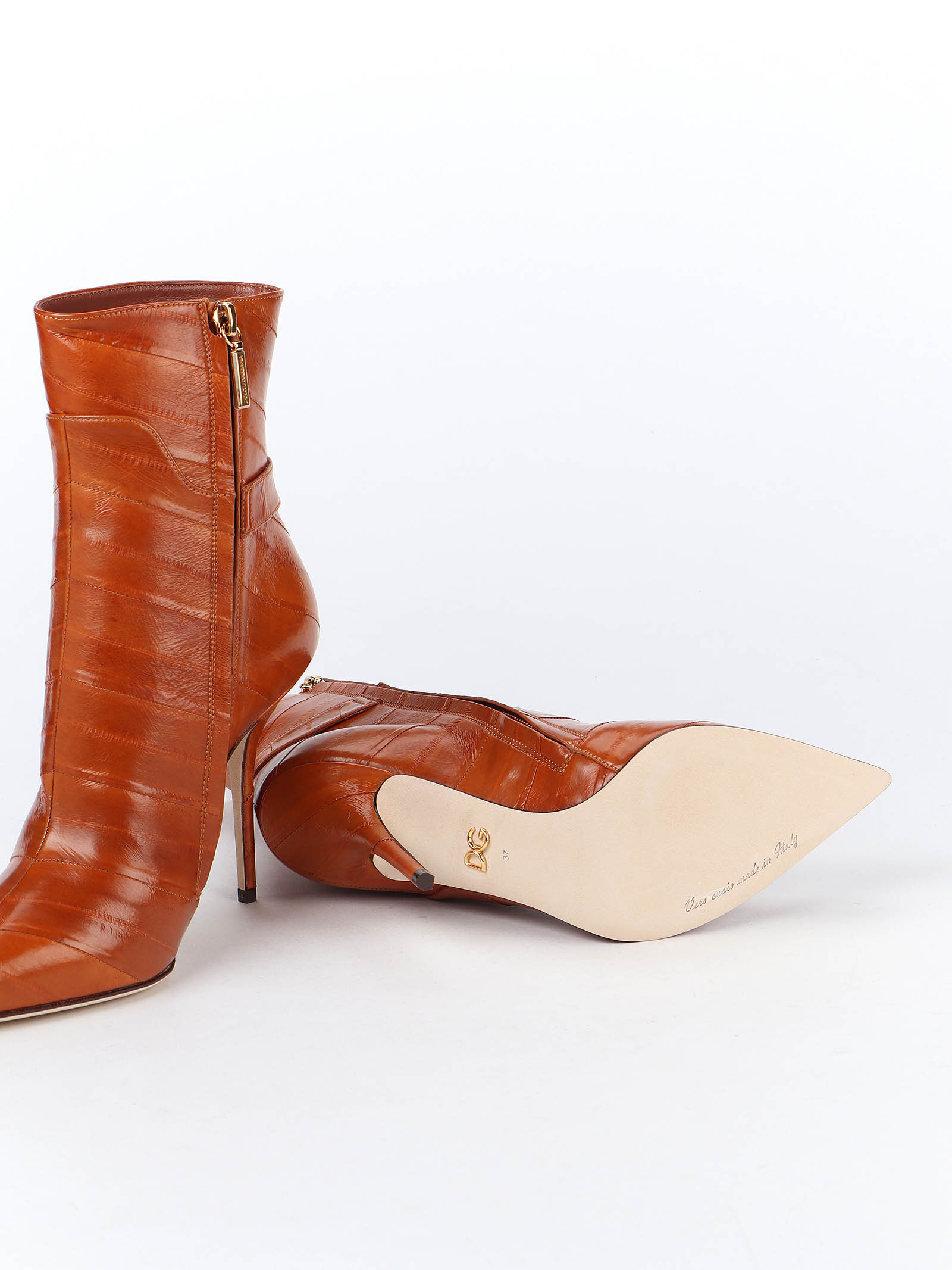 Picture of Dolce & Gabbana   Eel Ankle Boots