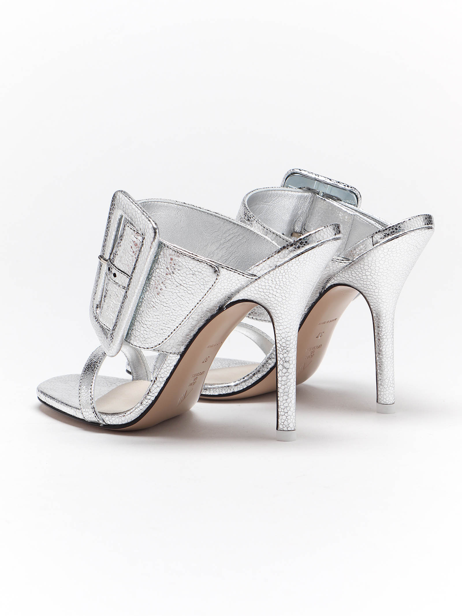 Picture of The Attico | High Heel Buckled Mule
