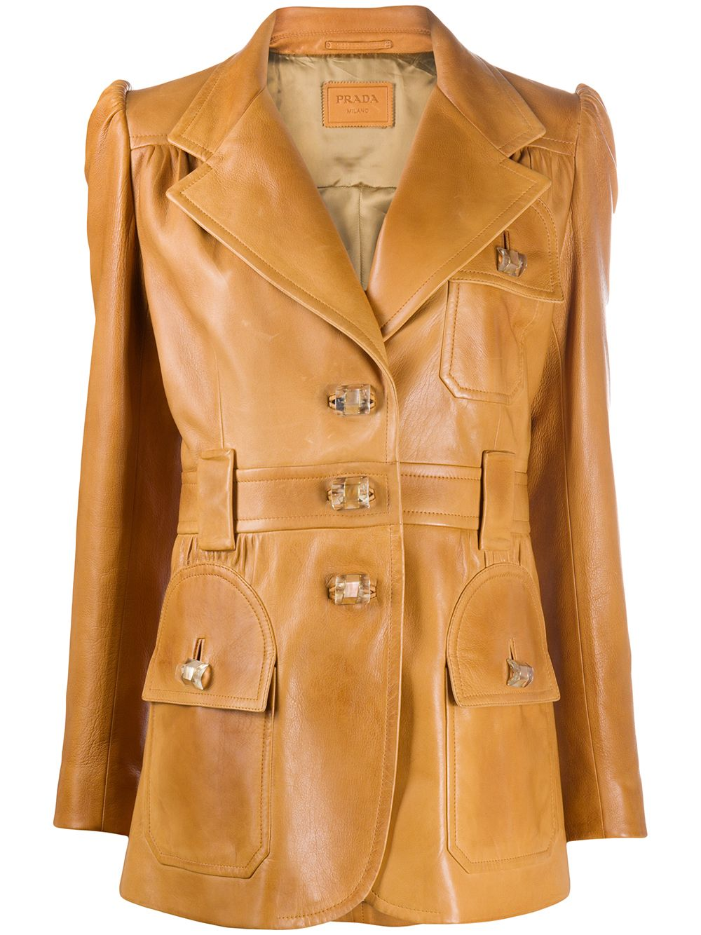 Picture of Prada | Leather Jacket