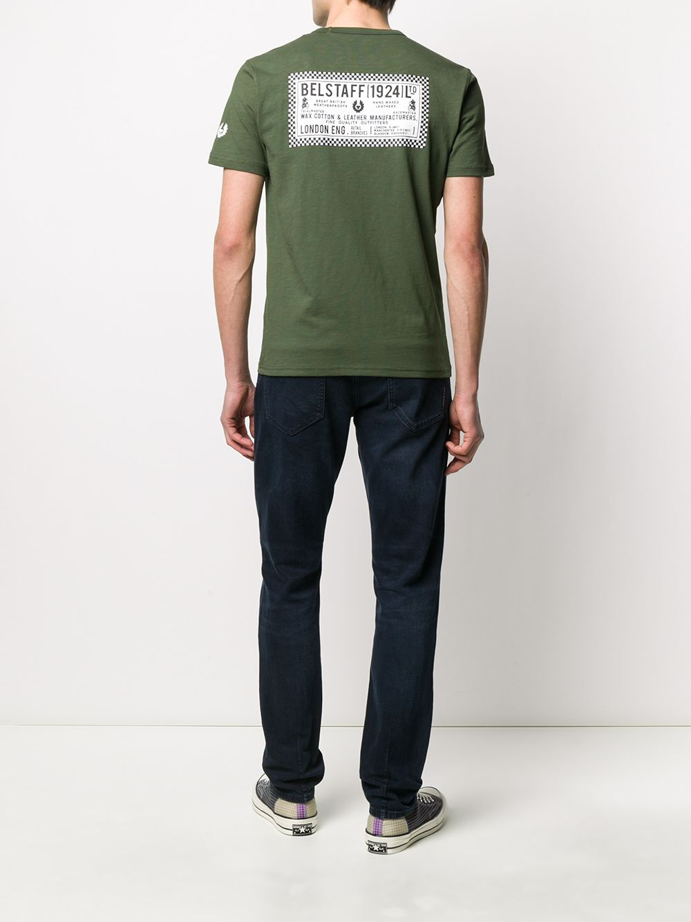 Picture of Belstaff | Checkered Border T-Shirt
