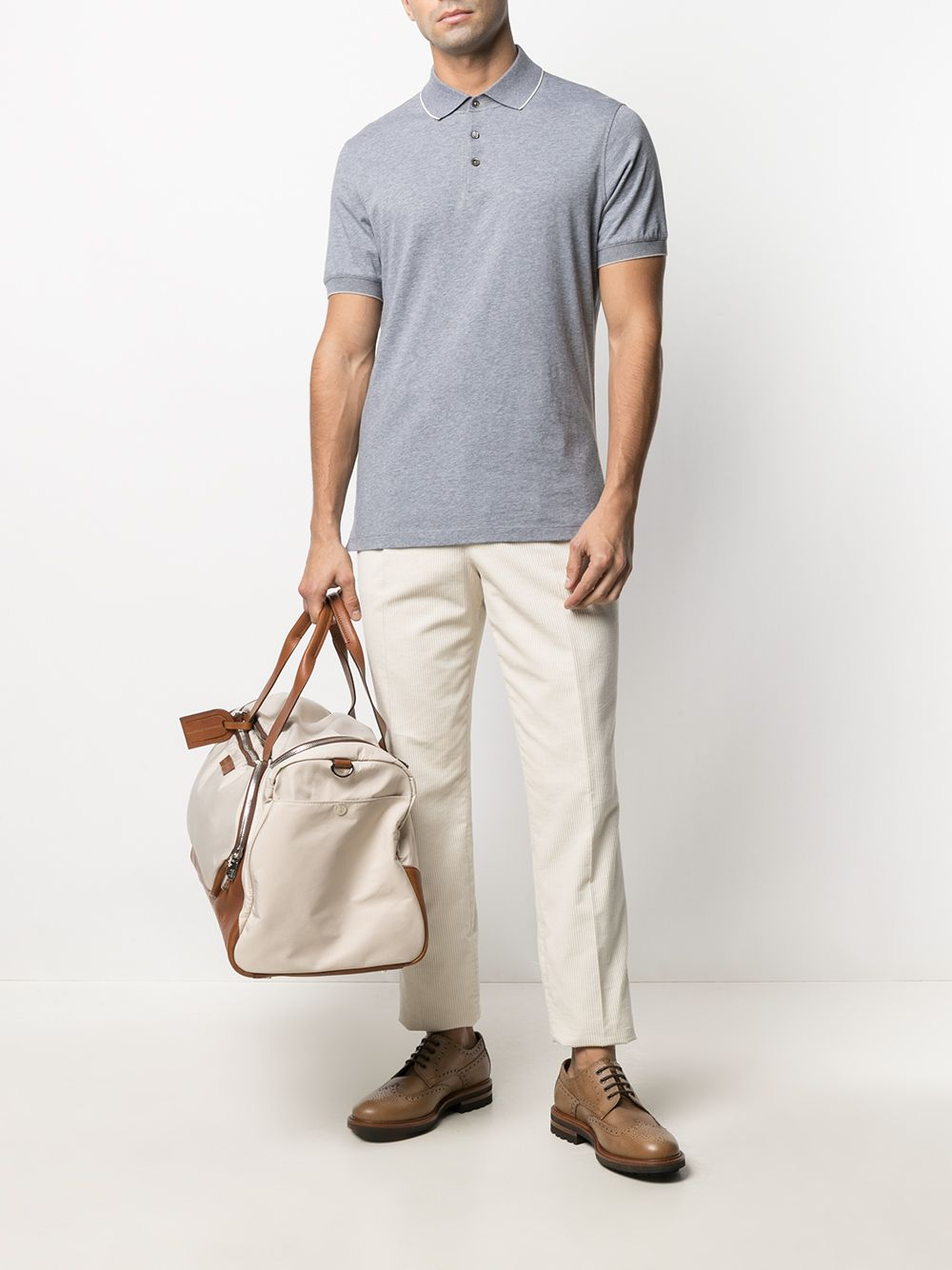 Picture of Brunello Cucinelli | Short Sleeve Cotton Polo Shirt