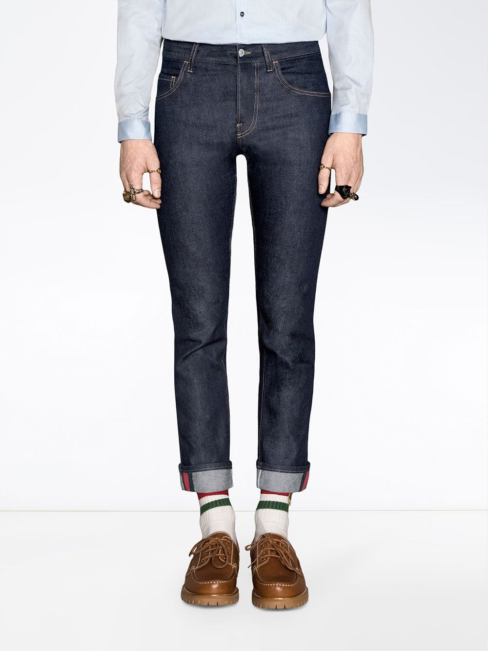 Immagine di Gucci | Web Stretch Denim