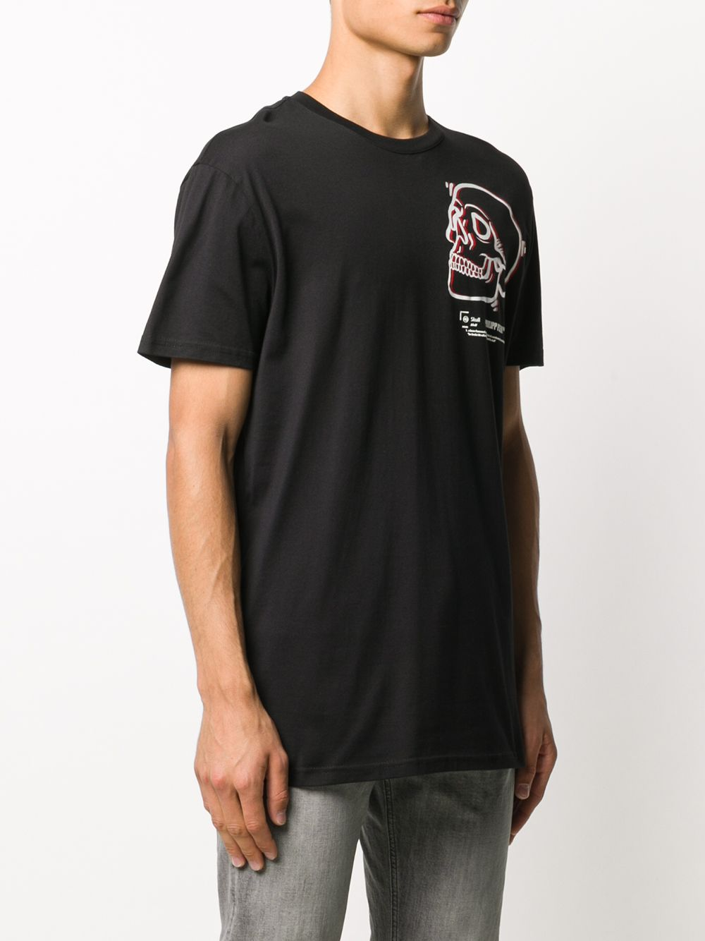Picture of Philipp Plein | T-Shirt Ss Outline Skull