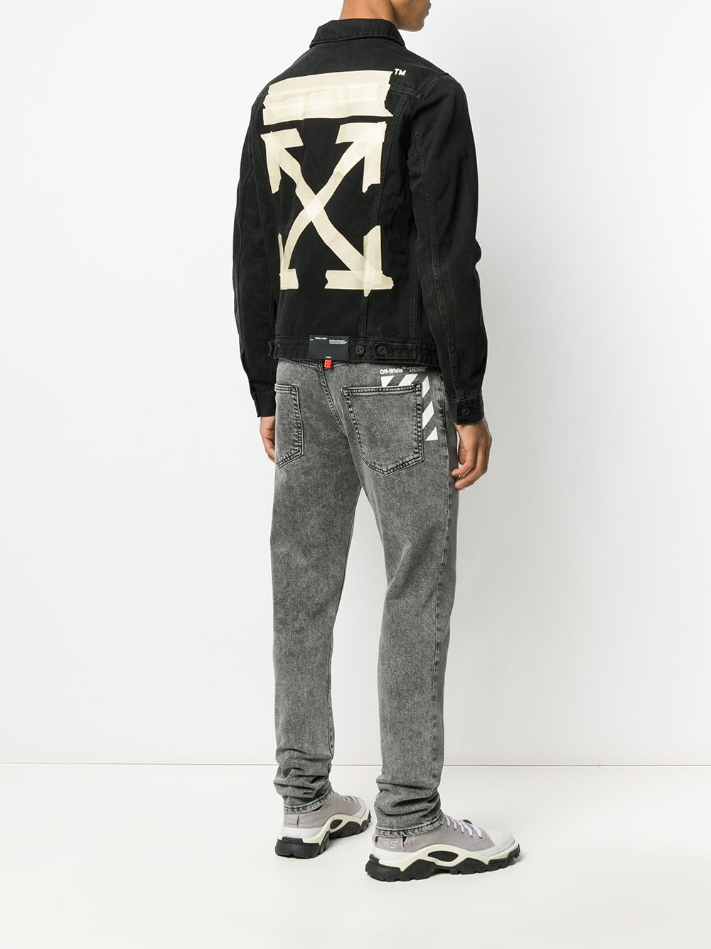 Picture of Off White | Tape Arrows Slim Jeans Jacket