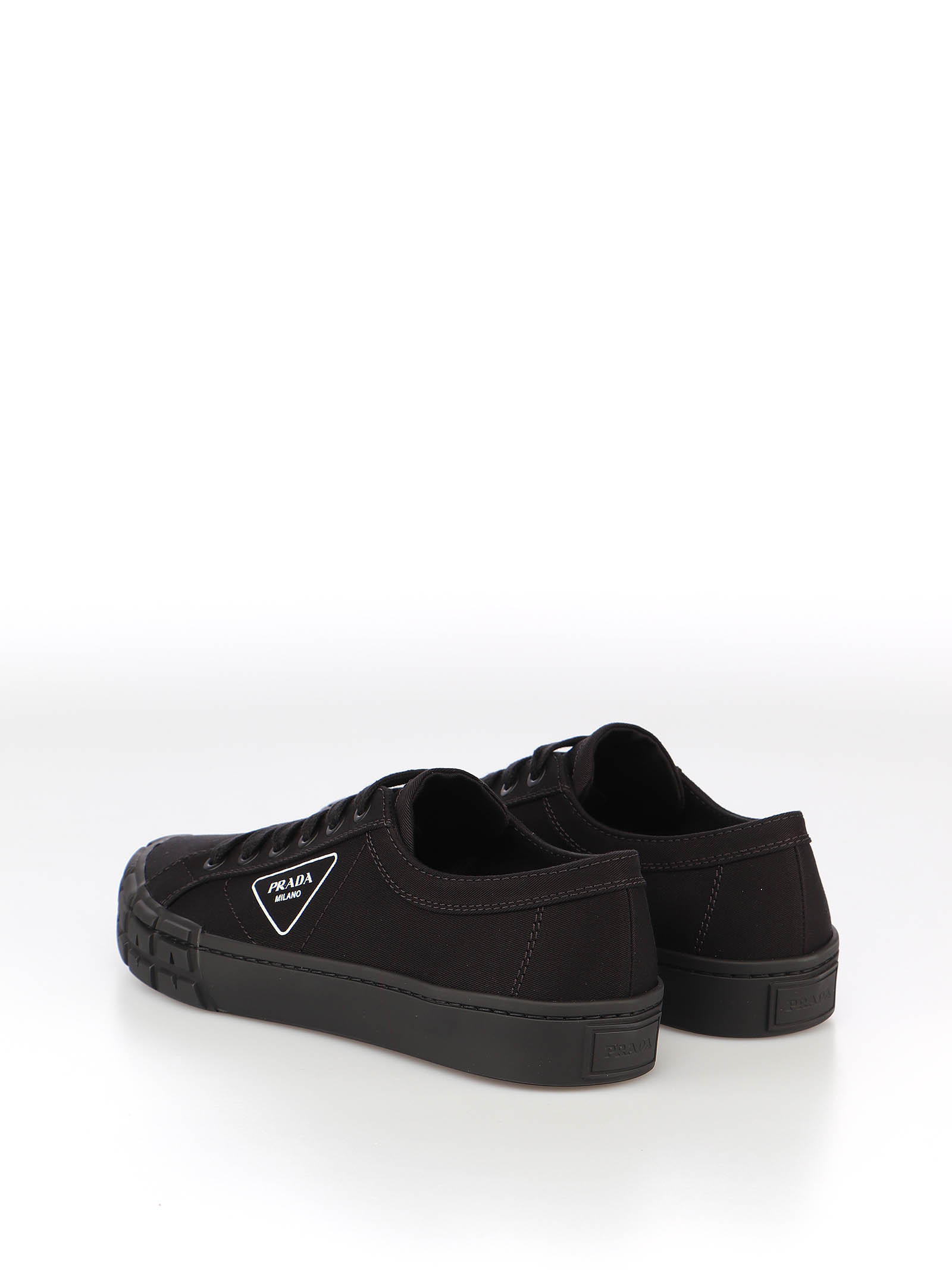 Picture of Prada | Cassetta Wheel Gabardine Fabric Sneakers
