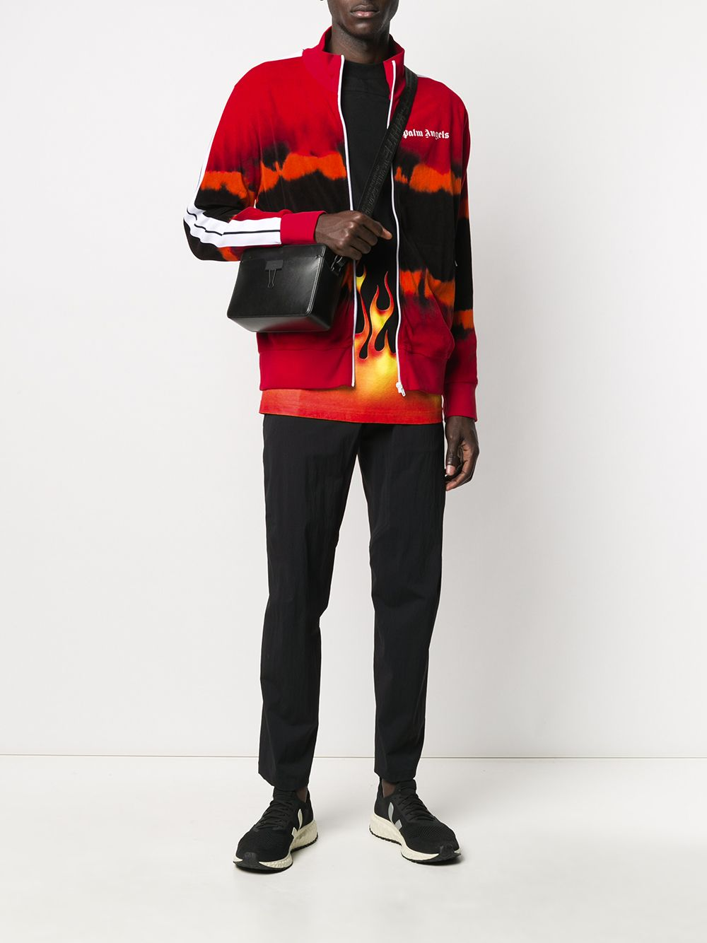 Picture of Palm Angels | Tie Dye Chenille Track Jkt