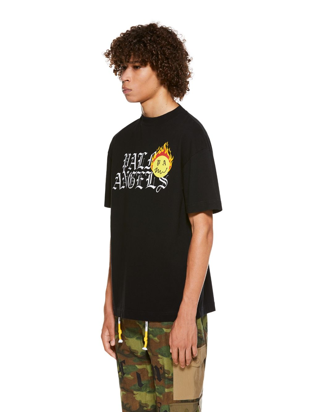 Picture of Palm Angels | Burning Head Logo Tee