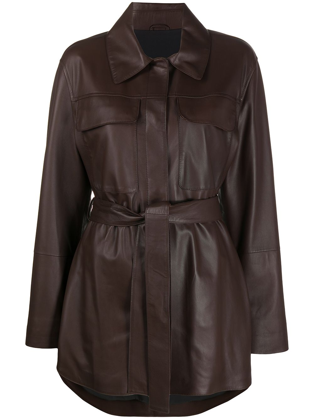 Picture of Brunello Cucinelli | Leather Shirt